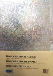 Holografisch papier Klaproos zilver 5vel A4 HP-104 (Locatie: 4331)