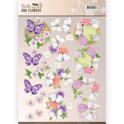 Jeanine's Art knipvel bloemen en vlinders CD11002 (Locatie: 2413)