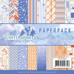 Jeanine's Art, Paperpack, 15.2 x 15.2 cm, Wintersports, JAPP1004 (Locatie: s2)