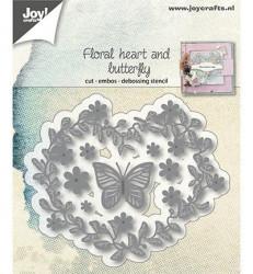 Joy! Crafts snij- en embosmal Floral heart and butterfly 6002/1172 (Locatie: i500)