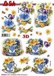 Le Suh knipvel Bloemen in Delfts blauw 8215766 (Locatie: 617)