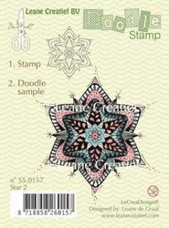 Leane Creatief Doodle clear stamp Star 2 550157 (Locatie: NN018)