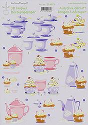 Leane Creatief knipvel koffie 506813 (Locatie: 614)