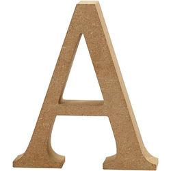 Letter A, hoogte 13 cm, dikte 2 cm, MDF, 1stuk (Locatie: KB)