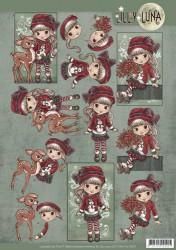 Lilly Luna knipvel kerstmis CD11004 (Locatie: 4513)