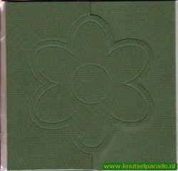 Lomiac kaart d.groen zigzag met bloem 3 stuks LC3141 (Locatie: Y021 )