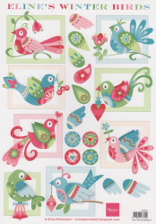 Marianne Design Eline's Winter Birds AK 0061 (Locatie: 6401)