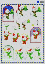 Marianne Design knipvel kerst 3DHM001 (Locatie: 6802)