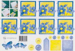Marjoleine knipvel bloem blauw 92 (Locatie: 2771)