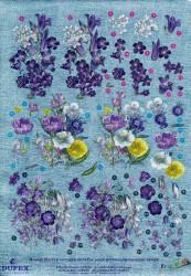 Metallic knipvel bloemen nr. 111742114 (Locatie: 4504)