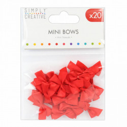 Mini strikjes, rood, 20 stuks (Locatie: K3)