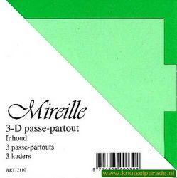 Mireille vierkante kaart groen 3 stuks 2110 (Locatie: Z53 )