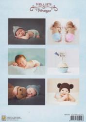 Nellie's Vintage knipvel sweet baby boy NEVI076 (Locatie: 0505)