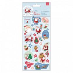 Papermania glitter sticker kerstmis, 2 vellen, PMA157984 (Locatie: c155)