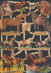 Poezieplaatjes paarden vintage (Locatie: MP094)