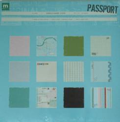 Scrapbook papier, 30.5x30.5 cm, 24 vel, Passport