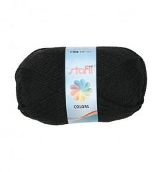Stafil wol, zwart, 50 gram, 133 meter
