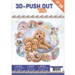 Stansboek Pets, 24 afbeeldingen en 8 designpapier, 3DPO10026 (Locatie: 0430)
