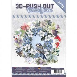 Stansboek Winter Flowers, 24 afbeeldingen en 8 designpapier, 3DPO10011 (Locatie: 0405)