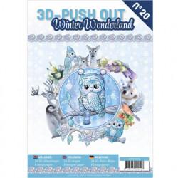 Stansboek Winter Wonderland, 24 afbeeldingen en 8 designpapier, 3DPO10020 (Locatie: 0431)