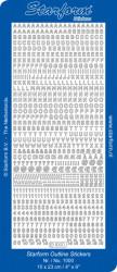 Starform sticker alfabet zilver 1000 (Locatie: T122)