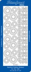 Starform sticker bloemen zilver 1065 (Locatie: N172)