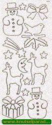 Starform sticker glitter kerst goud 9551 (Locatie: X036 )