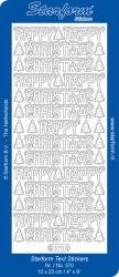 Starform sticker goud happy christmas 370 (Locatie: C242)