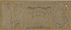 Starform sticker goud kerst 951 (Locatie: ZZ159)