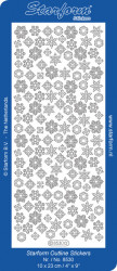 Starform sticker goud sneeuwvlokken 8530 (Locatie: J351)