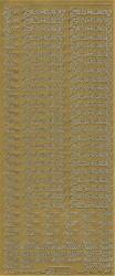 Starform sticker goud zum geburtstag 489 (Locatie: J407)