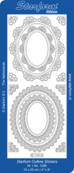 Starform sticker ornamenten zilver 1288 (Locatie: i469)