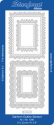 Starform sticker ornamenten zilver 1290 (Locatie: J545)