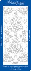 Starform sticker transparant glitter zilver 7086 (Locatie: J515)
