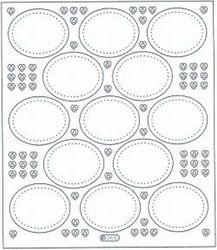 Starform sticker transparant zilver ovaal 3103 (Locatie: 205)