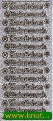 Starform sticker zilver/goud herzlichen glückwunsch 4401 (Locatie: ZZ133)