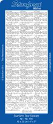 Starform sticker zilver menu 150 (Locatie: T152)
