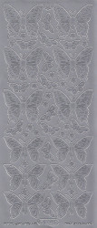 Starform sticker zilver vlinders 124 (Locatie: Q160 )