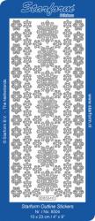 Starform sticker zilver winter 8504 (Locatie: G293)