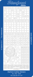 Starform stickervel bingo zilver 1216 (Locatie: g139)