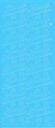Starform stickervel Hartelijk Gefeliciteerd lichtblauw 200 (Locatie: U059)