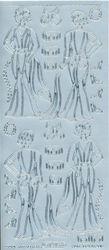 Starform stickervel kleding zilver 1245 (Locatie: G146)