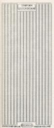 Starform stickervel transparant zilver randje 3205 (Locatie: u077)