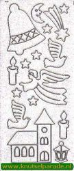 Starform stickervel zilver glitter kerst 9550 (Locatie: T047)