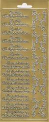 Sticker goud frohe weihnachten 3623 (Locatie: H265)