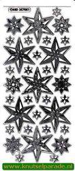 Sticker transparant zilver kerst MD 35 70 51 (Locatie: E233 )