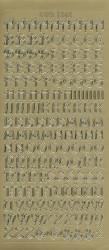 Stickervel alfabet goud DD1562 (Locatie: ZZ070 )