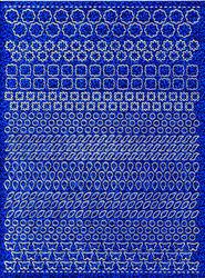 Stickervel dots holografisch blauw (Locatie: 2874)