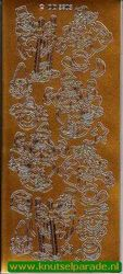 Stickervel goud circus DD 5203 (Locatie: C222 )