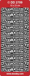Stickervel goud Happy Christmas DD2709 (Locatie: E145)